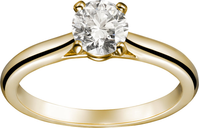 Solitaire wedding rings